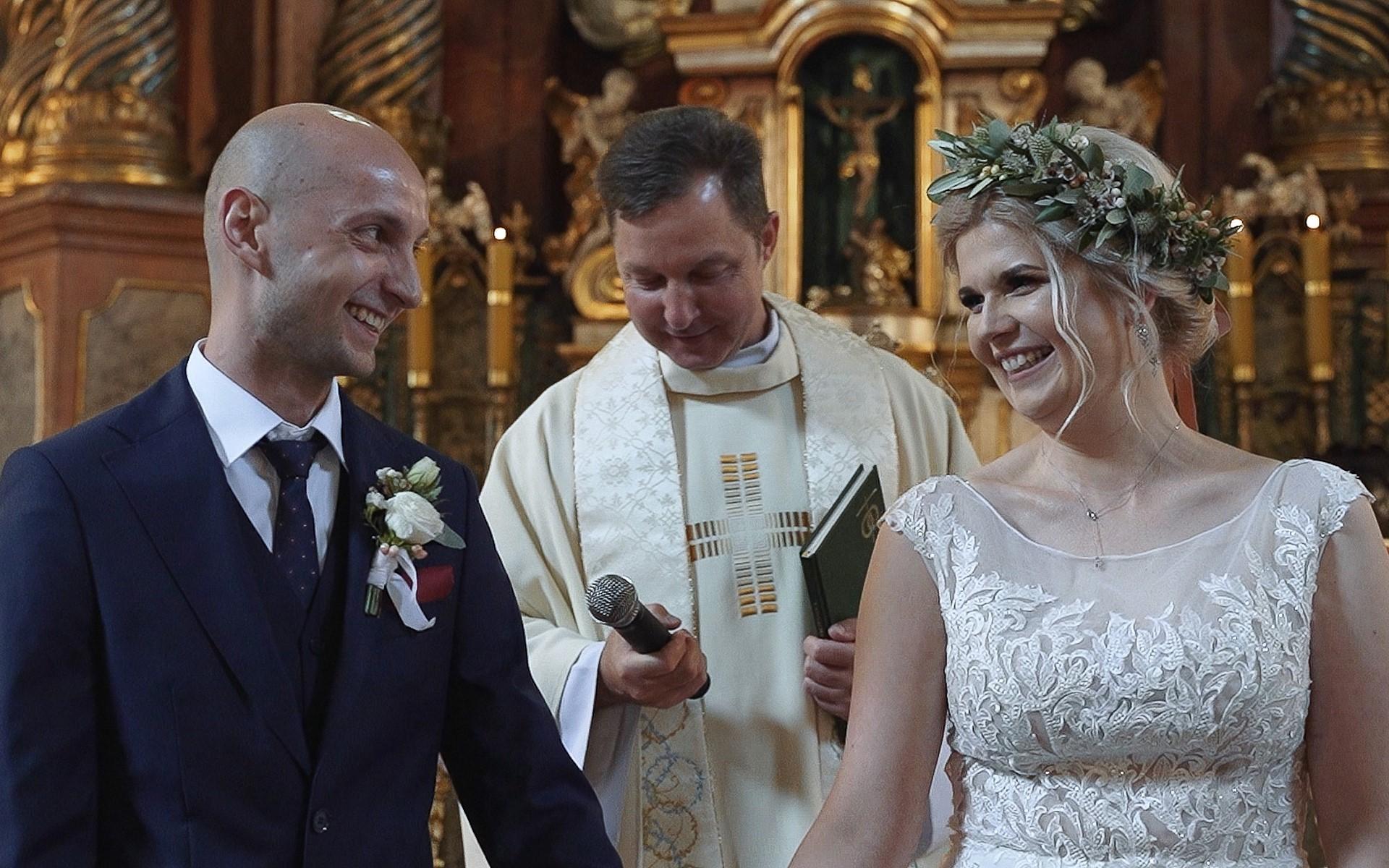 kościół w Owińskach film ślubny